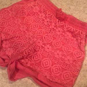 Lace girls shorts